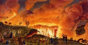 Vesuv - Hamilton. Illustrator: Pietro Fabris