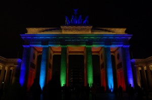 Brandenburger Tor in Farbe, Berlin 2009
