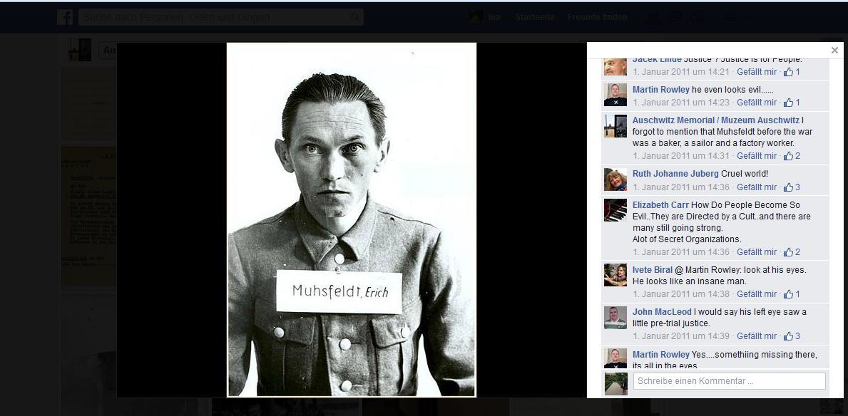 Screenshot facebook-Profil