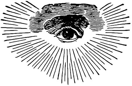 Das Auge Gottes in der Freimaurer-Symbolik, Quelle: Wikimedia Commons https://de.wikipedia.org/wiki/Auge_der_Vorsehung#/media/File:MasonicEyeOfProvidence.gif gemeinfrei