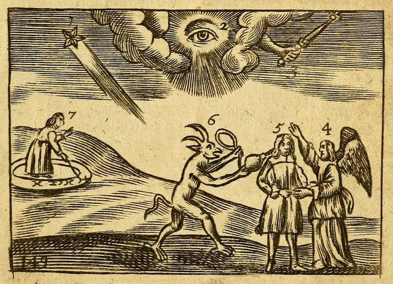 """""""Providentia Dei/Die Vorsehung Gottes"""", aus: Johann Amos Comenius, Orbis sensualium pictus, Nürnberg 1658, S. 304, gemeinfrei"""