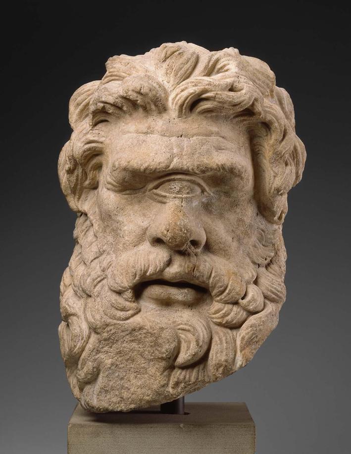 Kopf des Zyklopen Polyphem, um 150 v. Chr., Museum of Fine Arts Boston, gemeinfrei