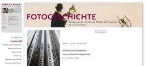 """40 Jahre Zeitschrift """"Fotogeschichte"""""""