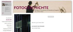 """Aktuelles Heft der """"Fotogeschichte"""": <br />Die Zukunft der Fotografie"""