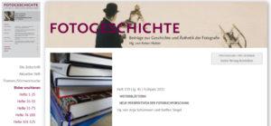 """Aktuelles Heft der """"Fotogeschichte"""": <br />Weiterblättern!"""