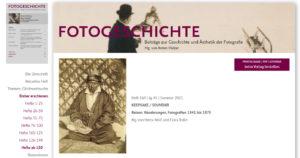 """Aktuelles Heft der """"Fotogeschichte"""": <br />Keepsake / Souvenir"""