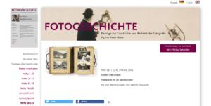 "Aktuelles Heft der ""Fotogeschichte"": Norm und Form"